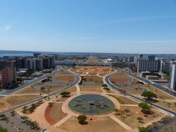 Vue sur Brasilia depuis la tour de TV